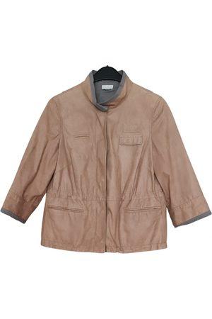 Brunello Cucinelli Leather biker jacket