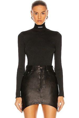 Balenciaga Long Sleeve Turtleneck Top in