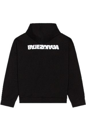 Balenciaga Embroidered Wide Fit Hoodie in