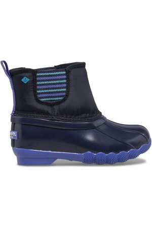 Sperry Top-Sider Boots - Sperry Kids Saltwater Chelsea Jr Boot Navy, Size 6M