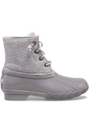 Sperry Top-Sider Boots - Sperry Kids Saltwater Wool Duck Boot Grey, Size 1M