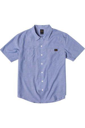 RVCA Day Shift Short Sleeve Shirt L Chambray