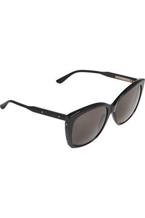 Bottega Veneta Black / Grey BV0182S Square Sunglasses