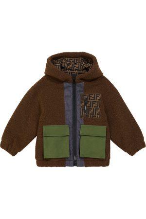 Fendi Hooded wool-blend teddy jacket