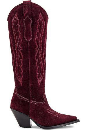 Toral Knee High Western Boot in Wine.