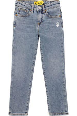 OFF-WHITE Kids Slim - Diagonal slim-fit jeans
