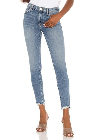 Hudson Women Jeans - Nico Midrise Super Skinny Ankle in Blue.