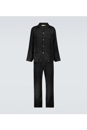 DEREK ROSE Men Pajamas - Woburn striped silk pajama set