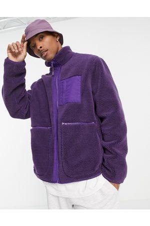 ASOS Men Fleece Jackets - Fleece walker jacket in