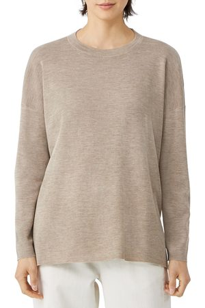 Eileen Fisher Women Sweatshirts - Women's Merino Wool Crewneck Sweater