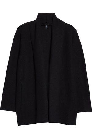 Eileen Fisher Women Blazers - Women's High Collar Wool Jacket