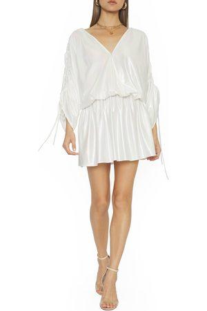 4SI3NNA Women Long sleeves - Women's Melody Ruched Long Sleeve Minidress