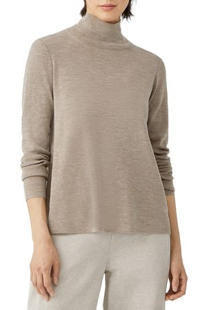 Eileen Fisher Women Tops - Women's Scrunch Neck Merino Wool Top