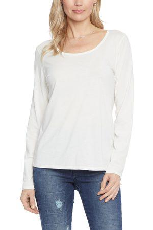 NYDJ Women's Scoop Neck Long Sleeve Cotton Jersey Top