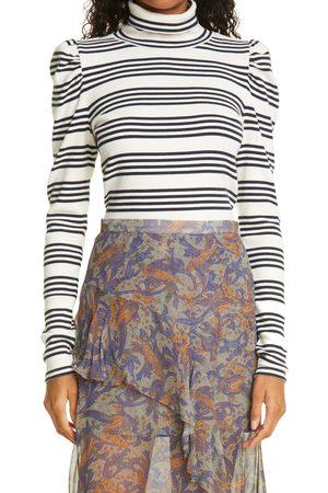VERONICA BEARD Women High Necks - Women's Cedar Stretch Cotton Turtleneck Top