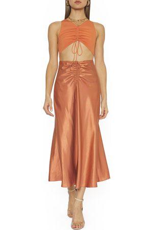 4SI3NNA Women Midi Dresses - Women's Elijah Sleeveless Cutout Midi Dress