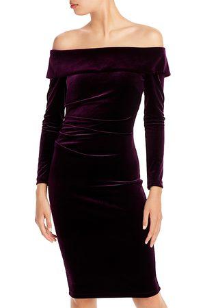Aqua Off The Shoulder Velvet Dress - 100% Exclusive