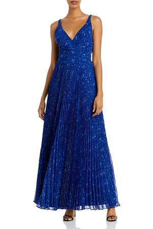 Shelli Segal Pleated Strappy Gown