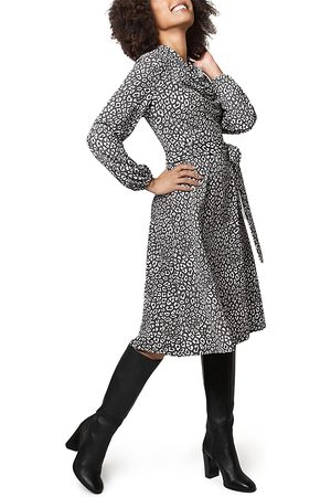 Leota Mallory Cowl Leopard Print Dress