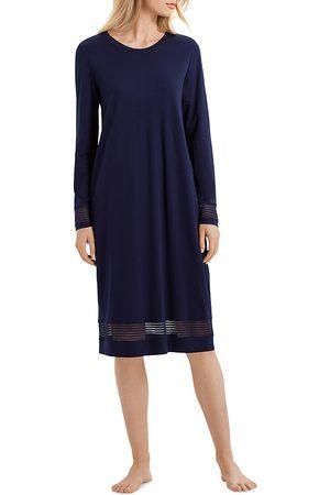 Hanro Striped Lace Trim Nightgown