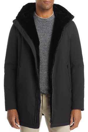 HERNO Hooded Parka With Faux Fur Lining