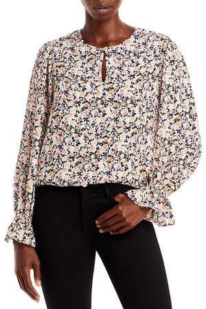 Status By Chenault Woven Floral Print Keyhole Top