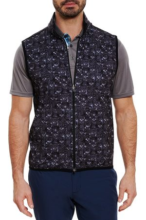 Robert Graham Paragon Classic Fit Printed Performance Fleece Vest
