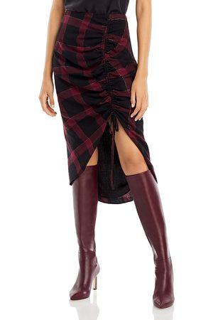 Ramy Brook Wilma Plaid Asymmetric Skirt