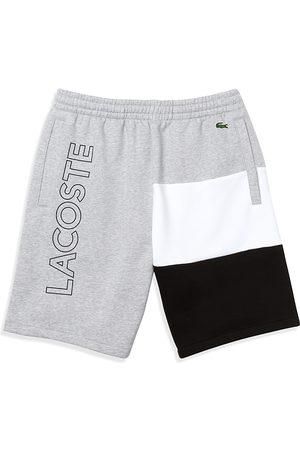 Lacoste Lettered Color Blocked Fleece Bermuda Shorts
