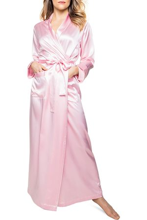 Petite Plume Silk Long Robe