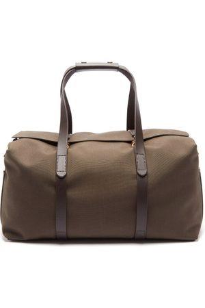 Mismo Men Travel Bags - Leather-trim Canvas Holdall - Mens - Dark