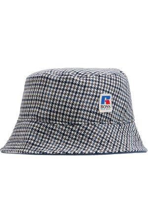 HUGO BOSS Men Hats - Logo Checkered Bucket Hat