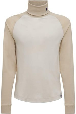 HUGO BOSS Logo Cotton Knit Roll Neck Sweatshirt
