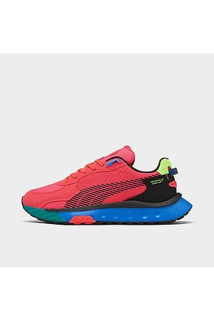 PUMA Men Casual Shoes - Men's Wild Rider Dazed Casual Shoes in Red/Sun Blaze Size 7.5 Nylon/Suede