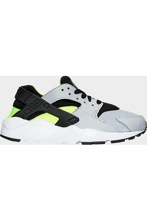 Nike Casual Shoes - Big Kids' Huarache Run Casual Shoes in Grey/Wolf Grey Size 5.0 Spandex/Plastic