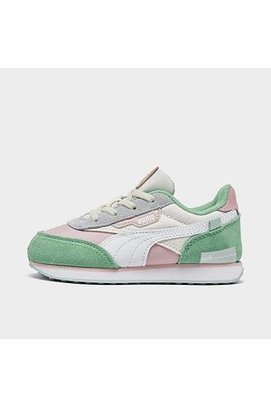 PUMA Casual Shoes - Girls' Toddler x Animal Crossing: New Horizons Future Rider Casual Shoes in Green/Bok Choy Size 5.0