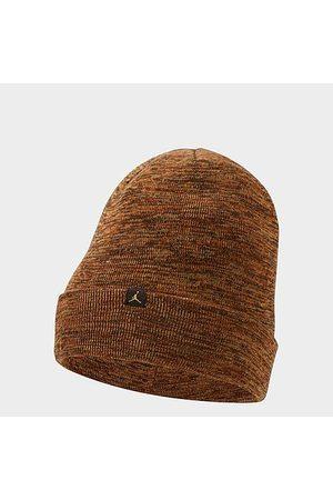 Nike Men Beanies - Jordan Cuffed Jumpman Beanie Hat in /Dark Russet Acrylic/Knit