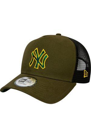 New Era Men Caps - Check Infill Ny Yankees Trucker Cap