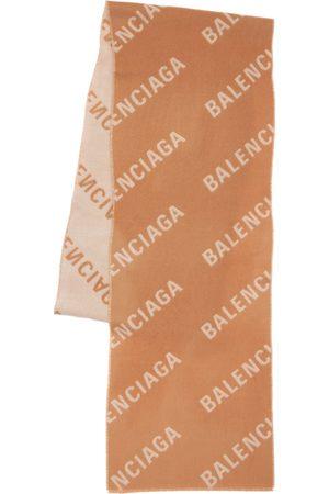 Balenciaga All Over Logo Cashmere Scarf