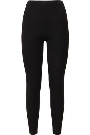 VALENTINO Women Leggings - Viscose Blend Jersey Logo Leggings