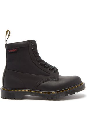 Dr. Martens Men Lace-up Boots - 1460 Lace-up Canvas And Leather Boots - Mens