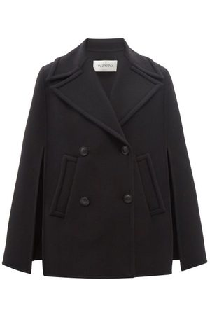 VALENTINO Double-breasted Wool-blend Twill Cape Coat - Womens