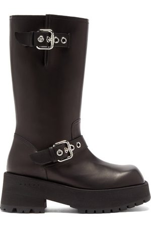 Marni Chunky-sole Buckled Leather Boots - Womens