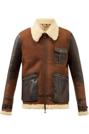 Belstaff Astell Shearling-lined Leather Jacket - Mens