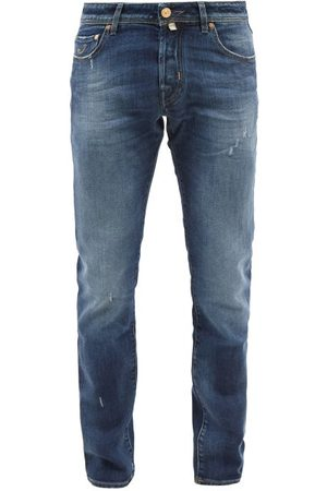 Jacob Cohen Nick Distressed Slim-leg Jeans - Mens
