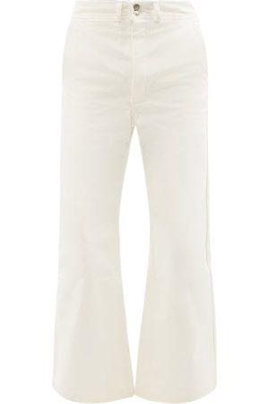 Phipps Men Wide Leg Pants - Sailor Organic Cotton-canvas Flared-leg Trousers - Mens