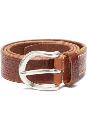OUR LEGACY Men Belts - Crocodile-effect Leather Belt - Mens