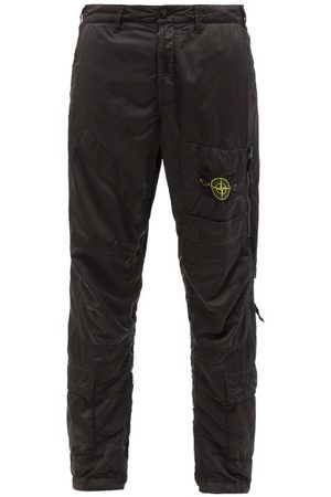 Stone Island Logo-patch Shell Cargo Trousers - Mens