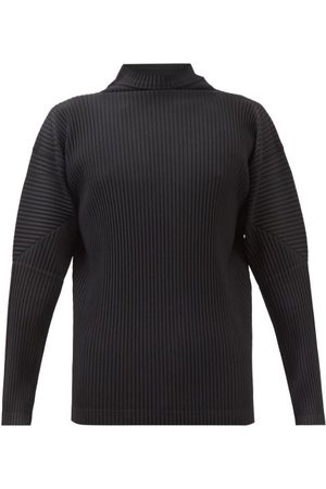 HOMME PLISSÉ ISSEY MIYAKE Roll-neck Pleated-jersey Long-sleeved Top - Mens