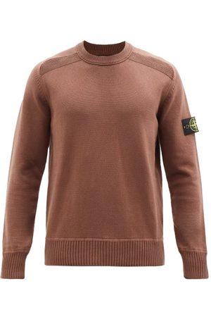 Stone Island Logo-patch Garment-dyed Cotton-jersey Sweatshirt - Mens